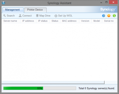 Synology Assistant Screenshot