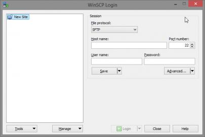 WinSCP Instellen