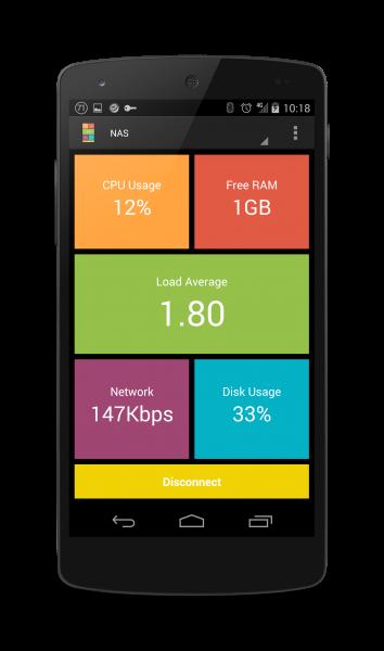 Screenshot JuiceSSH Performance Plugin