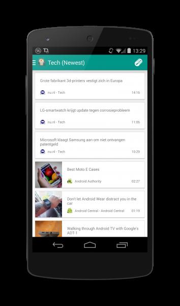Er is ook een Android client beschikbaar