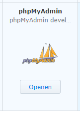 phpMyAdmin in Package Center