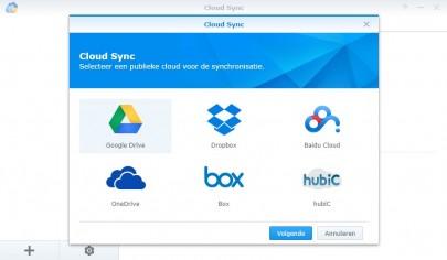 Cloud Sync Selecteer