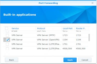 Port Forwarding middels uPNP