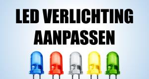 LED verlichting aanpassen