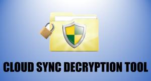 Cloud Sync Decryption Tool